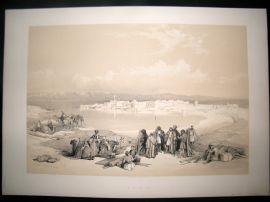 David Roberts Egypt 1842 LG Folio. Suez. 1st Edition Antique Print